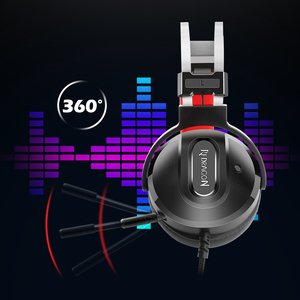 Image 3 - Redragon LADON H990 GAMING HEADSET 7.1 USB Surround PRO Wired Computer Headsets Earphones With Microphone for MAC PC Laptop PS4