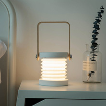 Portable Foldable Touch Dimmable LED Night Light Reading Lantern Lamp wooden handle USB Charging Table lights