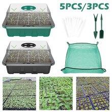 12 ячеек семян стартер лотки цветочные семена для горшка кассета для рассады росток плиты растения растут коробки с прозрачными крышками из ...