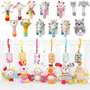 Newborn baby Toy Rattle Hanging Plush Lovely Cartoon Animal Bell Newborn Stroller 0-12 months Baby teether Toys Christmas gift