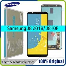 6.0 AMOLED orijinal LCD SAMSUNG Galaxy J8 2018 ekran dokunmatik ekran değiştirme için Galaxy J810 J810F SM J810F ekran