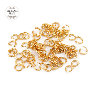 Linsoir 200pcs Stainless Steel Jump Rings Necklace Connector Jewelry Findings Links Hooks Clasps For Bracelet Cord Charms Dangle(China)