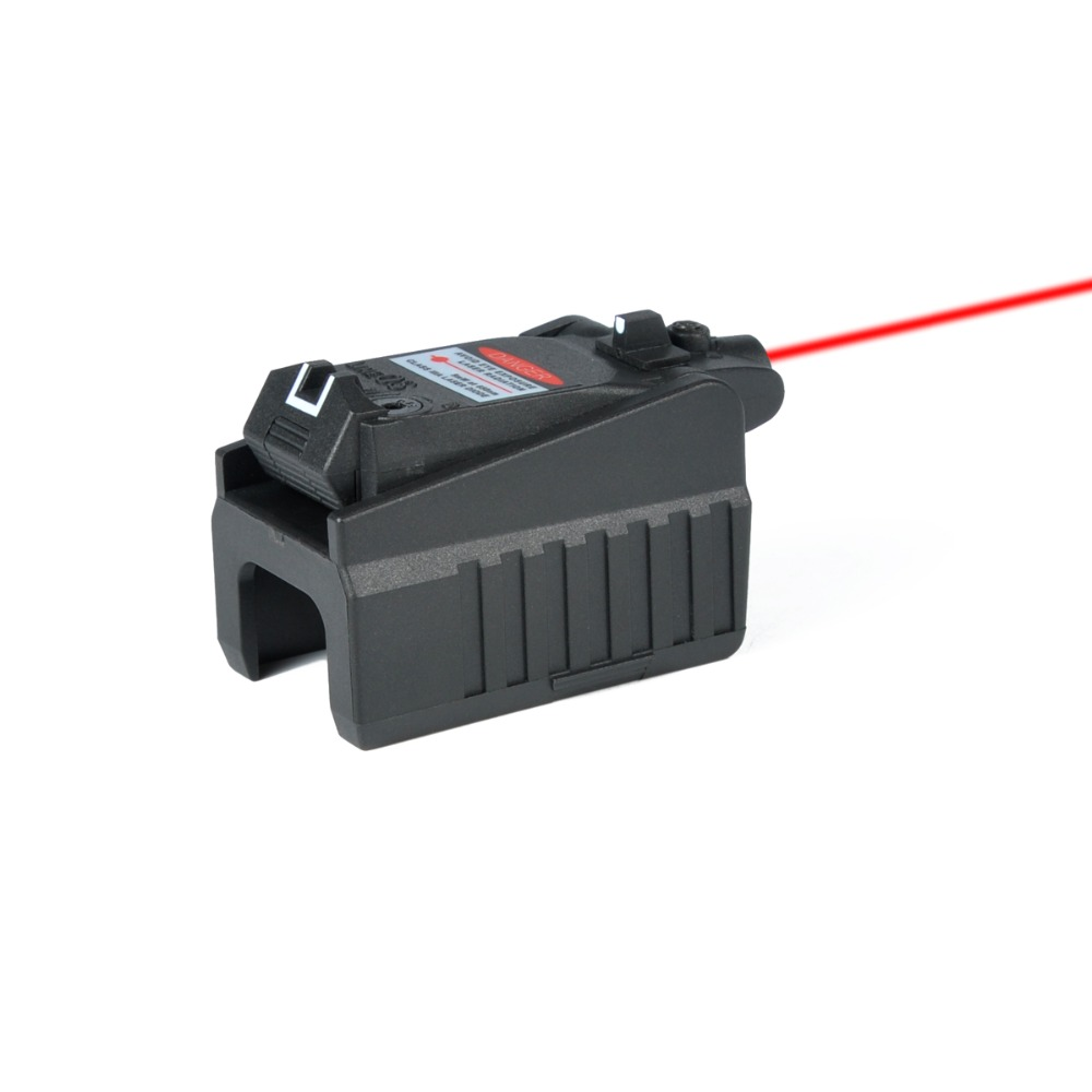 Тактическое оружие Красный лазерный прицел для Глок для страйкбола 17 19 22 23 25 26 27 28 Размеры 31, 32, 33, 34, 35, 37, 38, пистолет железа заднего вида