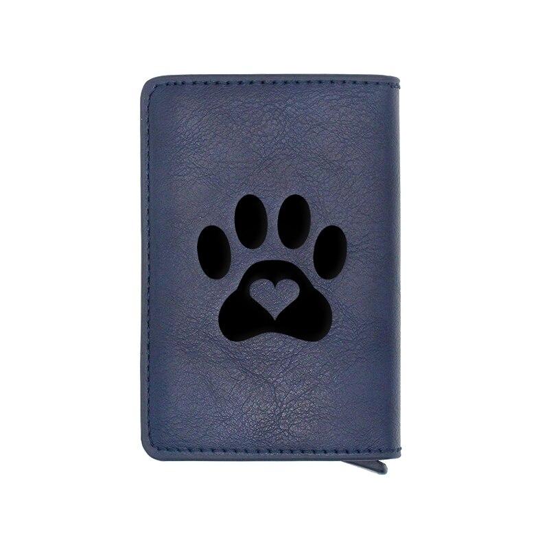 New Fashion Pet dog paw Design Card Holder Wallets Men Women Rfid Leather Short Purse Slim Mini Wallet Small Money Bag