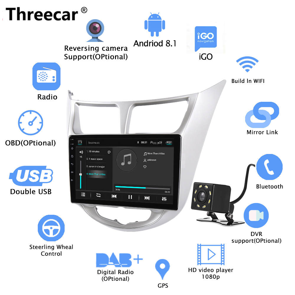 2 din Android 8.1 Car Radio 9