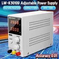 30V 10A 110V/220V DC Power Supply Adjustable 4 Digit Display Mini Laboratory Power Supply Voltage Regulator K3010D