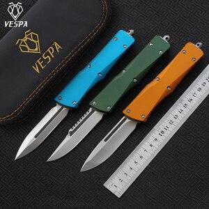 Image 1 - וספה סכין להב: S35VN (D/ES/E), ידית: אלומיניום, קמפינג הישרדות חיצוני EDC ציד טקטי כלי ארוחת ערב מטבח סכין