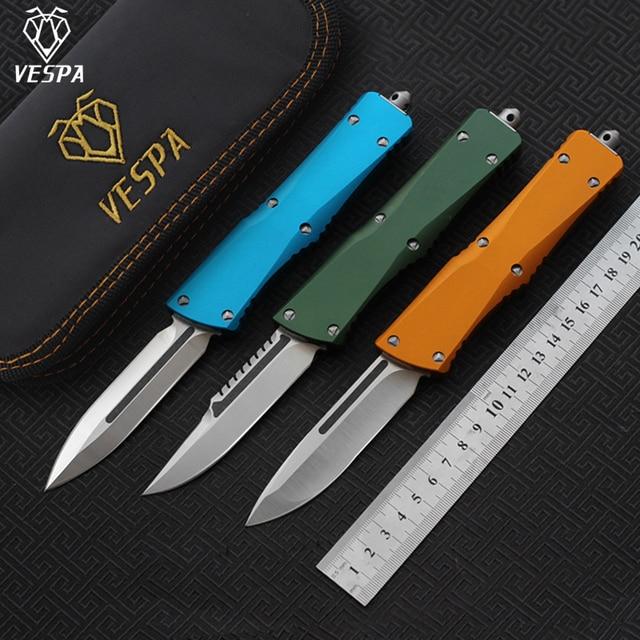 וספה סכין להב: S35VN (D/ES/E), ידית: אלומיניום, קמפינג הישרדות חיצוני EDC ציד טקטי כלי ארוחת ערב מטבח סכין