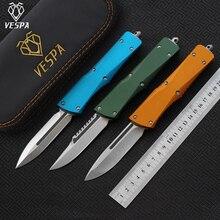 VESPA bıçak: S35VN (D/E.S/E), kolu: alüminyum, kamp survival açık EDC av taktik aracı yemeği mutfak bıçağı