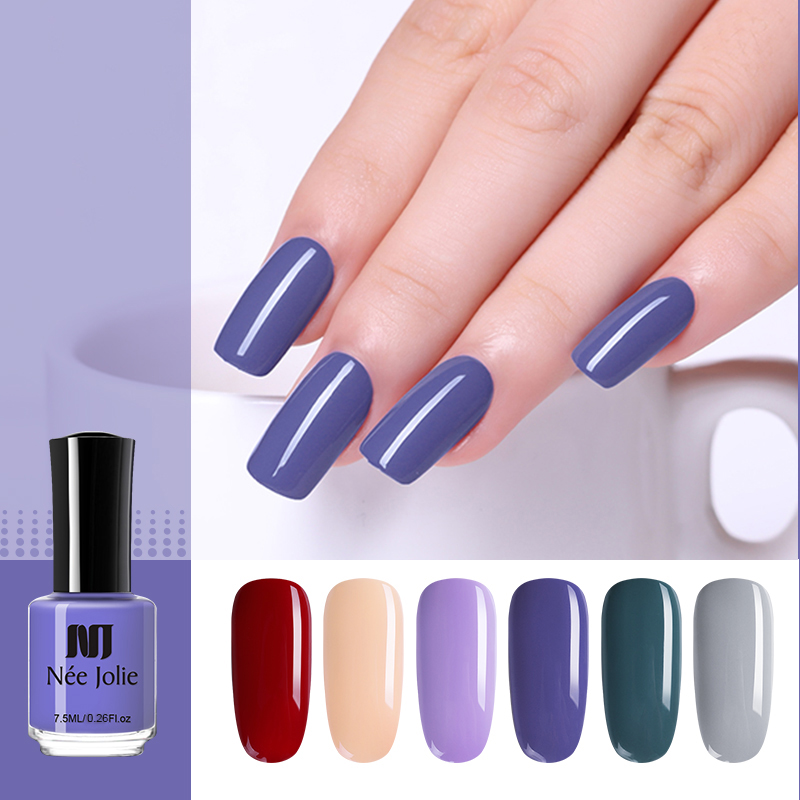 NEE JOLIE Fast Dry Pure 36 Color Nail Polish Coffee Gray Series Nail Art Lacquer Varnish Polish Manicure Nail Decoration