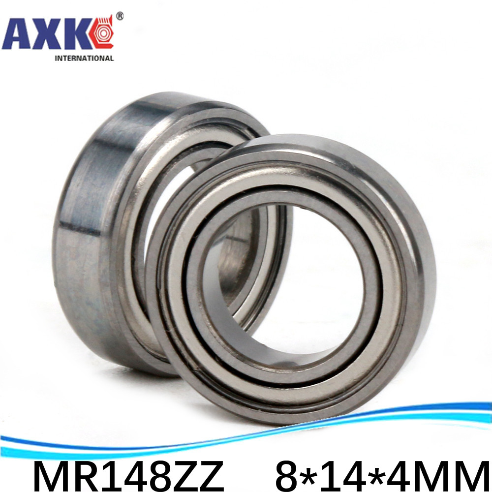 AXK free shipping Wholesale Double Shielded Miniature Ball Bearings <font><b>MR148ZZ</b></font> <font><b>8*14*4</b></font> mm 500 pcs/lot image