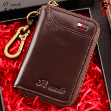 Key Wallets RFID Purse Cards-Holder Coin Multi-Function Men's Fashion Business Unisex