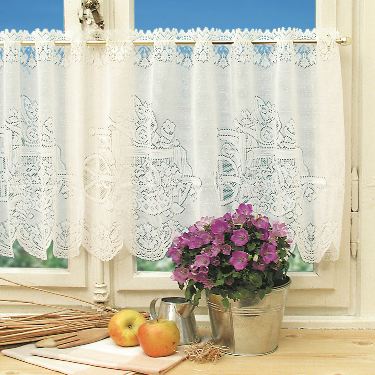 1pc Lace Coffee Curtain Window Tulle Butterfly Apple Curtains For Living Room Kitchen Treatments Voile Curtain Festival Decor Curtains Aliexpress