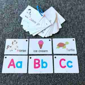Montessori Early Learning English Flash Card Children Educational Toy Kids Learning Cognitive Memory Cards English Learning Toys