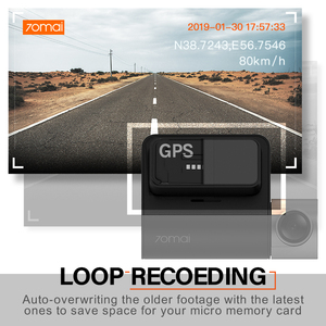 Image 5 - חדש 70mai דאש מצלמת לייט 1080P מהירות קואורדינטות GPS מודולים 70mai לייט רכב מצלמת מקליט 24H חניה צג 70mai לייט רכב DVR