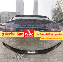 E92 2-Door Hard top Tail Spoiler Wing Carbon Fiber M4 Style For BMW 3-Series 320i 323i 325i 330i 335i Rear Trunk 2006-13