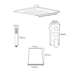 Image 5 - ULGKSD LED Rain Shower Faucet Set Digital Single Handle Mixer Tap Waterfall Tub Spout W/ Hand Shower For Bathroom Faucets
