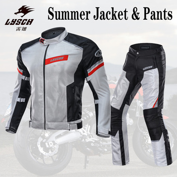 New Arriver Breathable Motorcycle Jacket/Pants Motobike Riding Jacket Waterproof Reflective Knight Racing Suit Sets Windproof