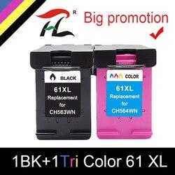 61XL kasety wymiana dla hp 61xl tusz kartridż do hp hp 61 Deskjet 1000 1050 1055 2050 2512 2540 3050 Envy 5530 4500