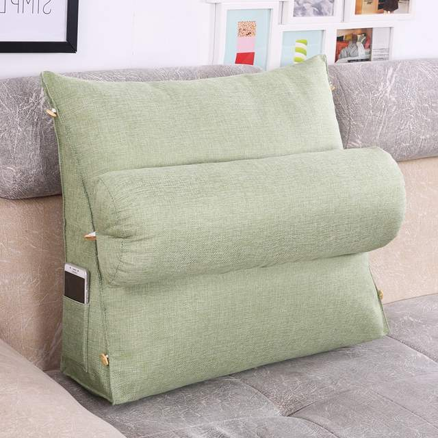 US $29.99 |Bed Triangular Backrest Cushion Sofa Cushions For Bed Rest  Pillow Back Support Large Size Lounger Reading Maternity Pillow-in Plush  Pillows ...