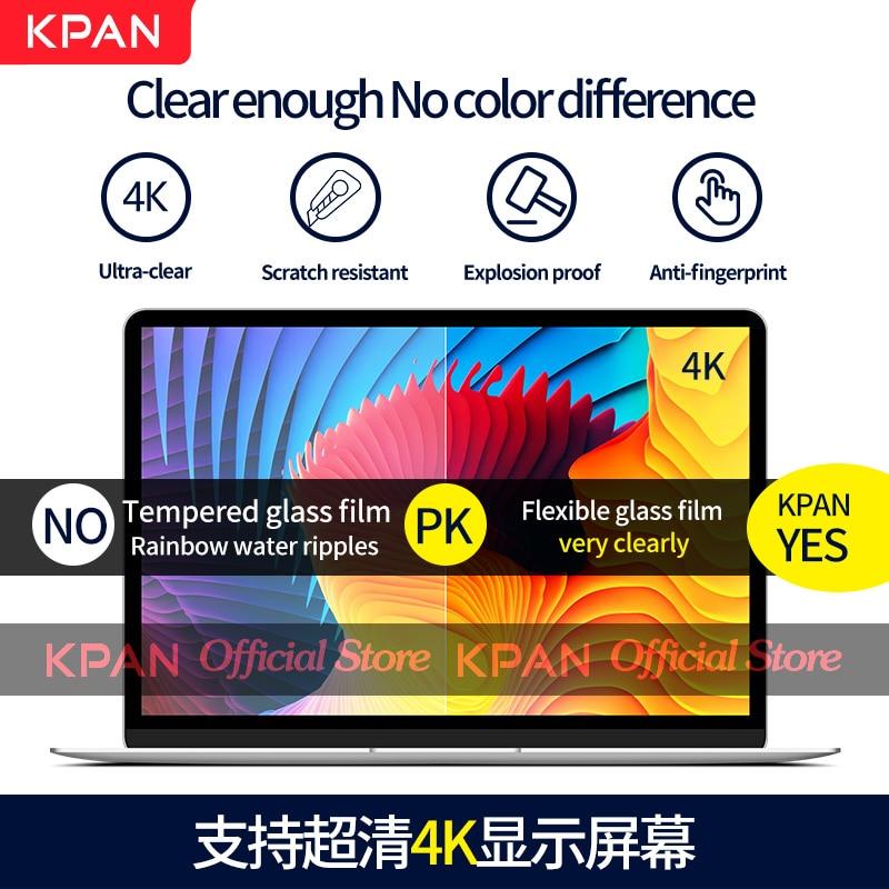 KPAN Chip de HD para Macbook Pro 13 2020 M1 A2337 2338 Protetor De Tela Pro Ar 12 13 15 16 2179 2289 1706 2251 Filme De Vidro Flexível-2