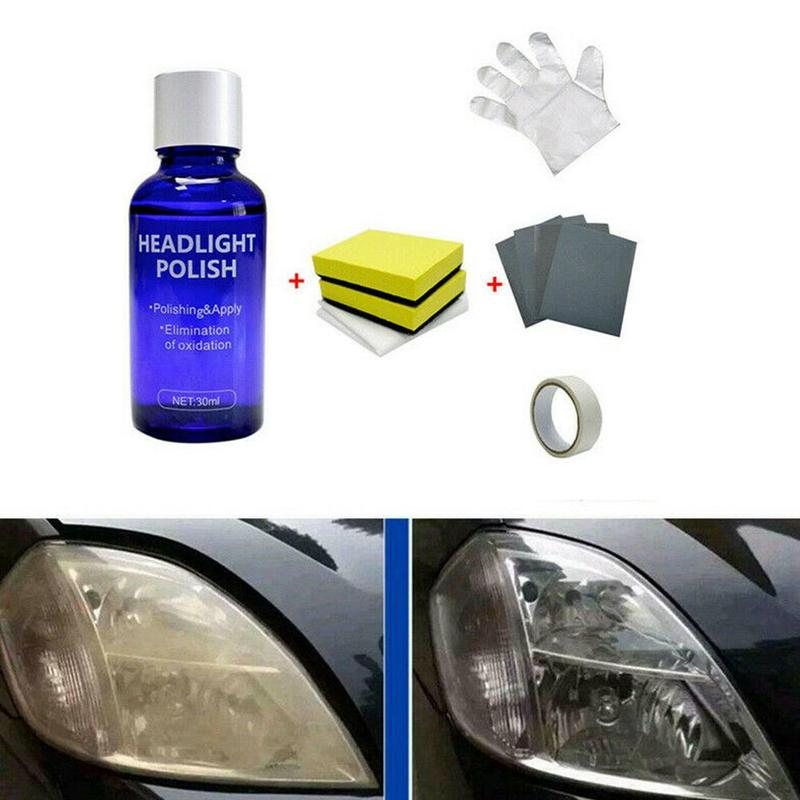 10ml/30ml Car Headlight Repair Coating Solution Repair Kit Headlight Polish Scratch Renovation Agent Polishing Coat Car Styling