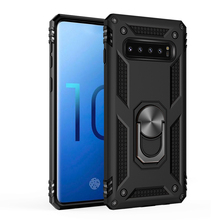 Shockproof Armor Magnetic Car Holder Kickstand TPU+PC Rotating Case For Samsung Galaxy Note 10 10+ Plus S10 5G Finger Ring