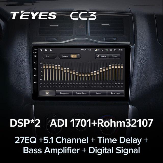 TEYES CC3 Штатная магнитола For Лада ВАЗ Гранта Кросс For LADA Granta Cross 2018 - 2019 до 8-ЯДЕР, до 6 + 128ГБ 27EQ + DSP carplay автомагнитола 2 DIN DVD GPS android 10 мультимедиа автомобиля головное устройство 4