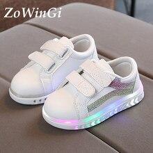 Rozmiar 21-30 świecące tenisówki dziecięce buty dla chłopca dziecięce buty wodoodporne buty sportowe buty led dla dzieci Sneakers Luminous Kids