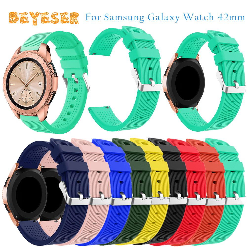 20mm silicone watches bands For Samsung Galaxy 42mm Bracelet Wristband Replacement For Samsung Gear S2/Gear sport watch strap