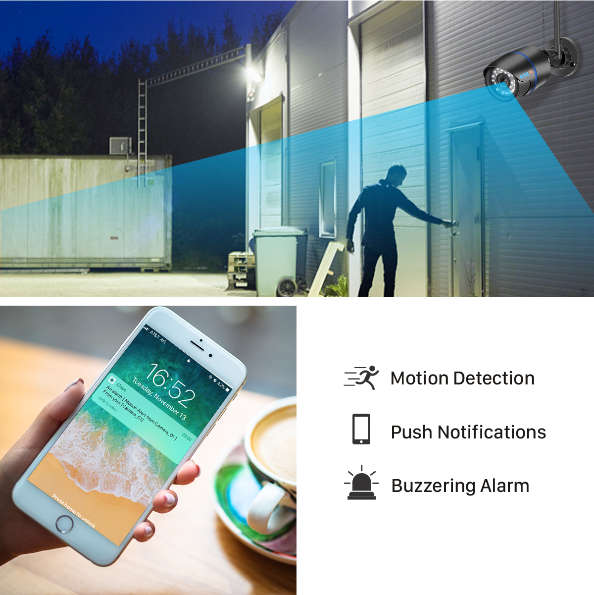 H786f5028d9c04c6e9b09f03efb4df554w BESDER iCsee Audio Security IP Camera 1080P Wireless Wired ONVIF CCTV Surveillance Outdoor Wifi Camera With SD Card Slot Max 64G