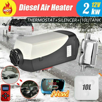 Renoster 15L 12V 2KW/2000Watt Air Car Heater LCD Thermostat Switch Remote Control Air Diesels Heater Parking Heater Camper Van