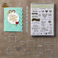 LOVE Heart Notes Dies Cut Metal Cutting Dies for Scrapbooking Clear Stamps and Die Sets DIY Card Making Crafts Stencil Dies