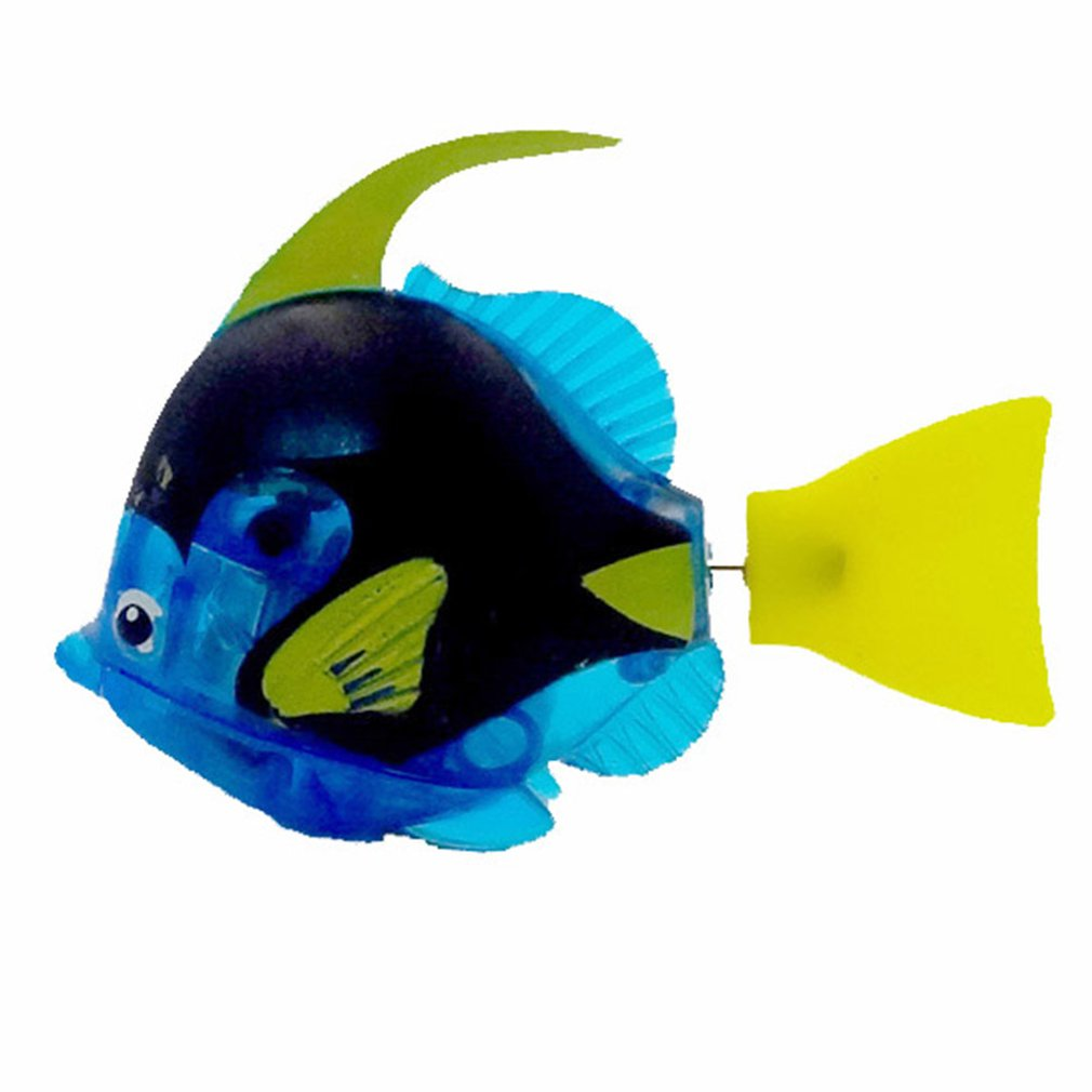 Funny Swim Electronic Fish Activated Battery Powered Bath Toy Fish Robotic Pet For Fishing Tank Decorating Pets Fishes