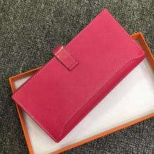 Kafunila 2019 Famous Brand Money Bag Genuine Leather Bussiness Wallet Women Zipper Clutch Long Purses Card Holder Iphone Pocket