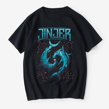 Jinjer band pattern quality men's cotton T-shirt printing T-shirt street trend T-shirt wild T-shirt men's T-shirt