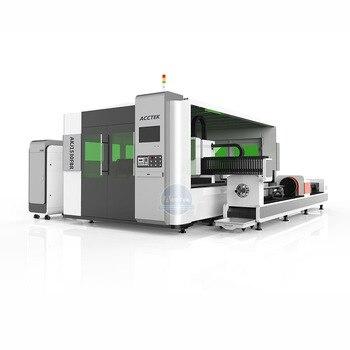 Chiny gorąca sprzedaż zamknięta maszyna do cięcia laserem światłowodowym maszyna stal aluminiowa wysokiej jakości maszyna do cięcia rur