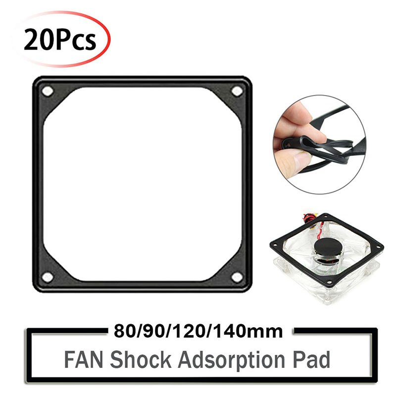 2PK 120mm PC Computer Cooling Fan Anti-Vibration Noise Reduction Silencer Gasket