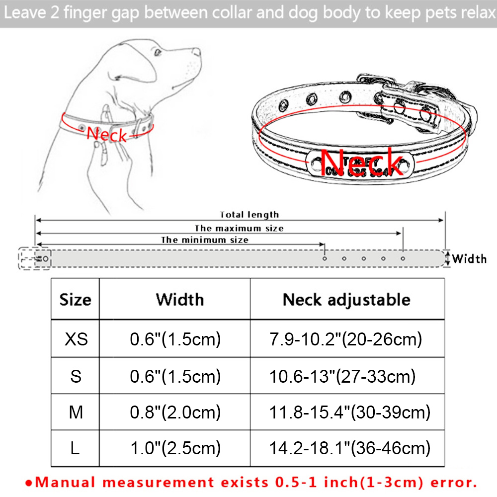 Personalized Dog Collar Leather Rhinestone Bling Charms Custom Pet Dogs Cat Name 2
