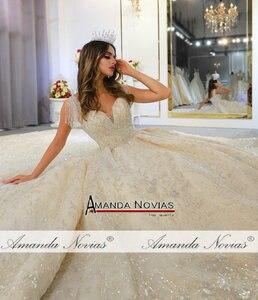 Image 5 - 2020 אוסף אמנדה novias מותג אמיתי עבודה חתונת שמלת כלה שמלה