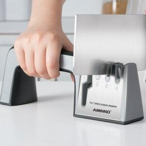 Image 5 - Afilador de cuchillos AMINNO para cuchillos, juego de piedra profesional multifuncional para cuchillos, afiladores, tijeras, cuchillos