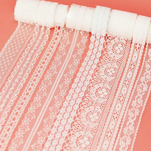Decoration Webbing Ribbon-Fabric Packing Polyester-Material White Lace White Lace