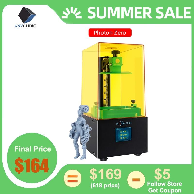 Anycubic 2020 新フォトンゼロ 3D プリンタ sla 液晶プリンタクイックスライス uv 樹脂プラスサイズ impresora 3d drucker impressora3D プリンタ   -