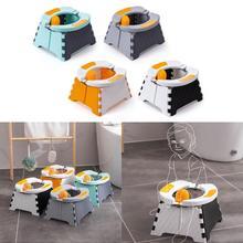 Baby Potty Training Seat Kids Toddler Outdoor Portable Folding Toilet Urinal Pot