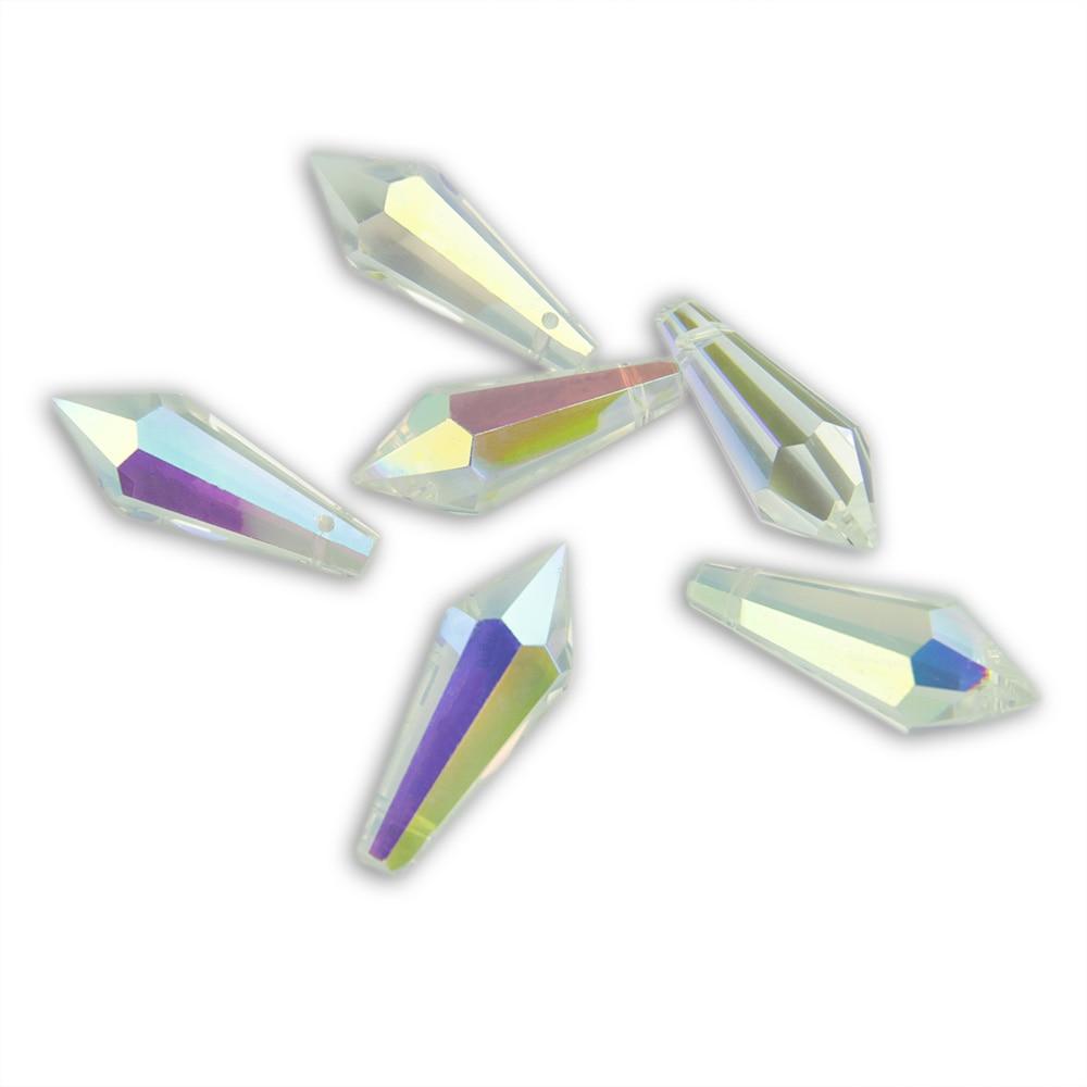 38mm / 63mm / 76mm AB Crystal Icicle U Damla Kristal Çilçıraq - İşıqlandırma aksesuarları - Fotoqrafiya 2