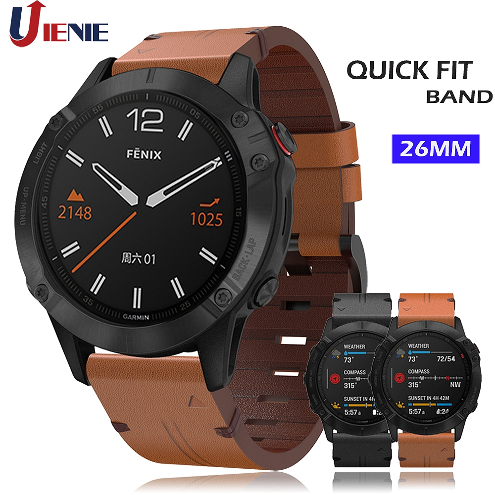 26MM Watchband Strap For Garmin Fenix 5x 5xPlus 3 3HR 6X Mk1 Watch Quick Release Band Leather Easy Fit Wristband For Fenix 6xPro