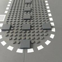 100 Stuks Platte Tegel 2X2 Diy Verlichten Plastic Bouwsteen Bakstenen Voor Kinderen Compatibel Alle Merken Assembleert Deeltjes