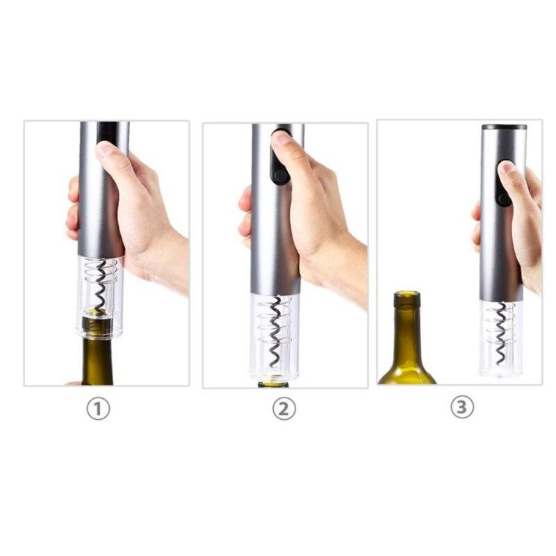 Useful Electric Wine Opener Automatic Corkscrew Wireless Wine Bottle Opener Set with Vacuum Cap in Openers from Home Garden
