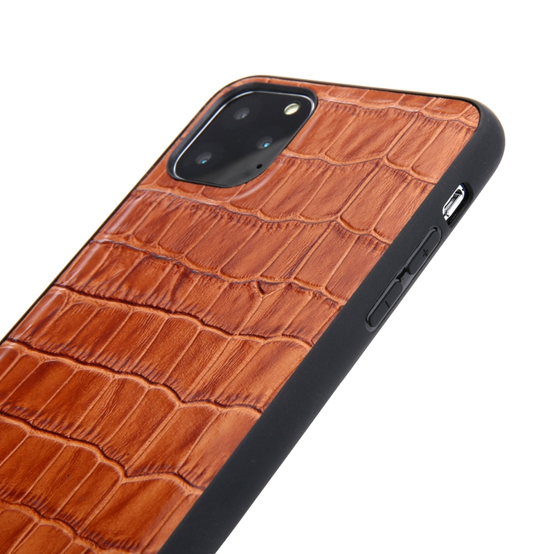 Solque Genuine Leather Crocodile Style Case for iPhone 11/11 Pro/11 Pro Max 3