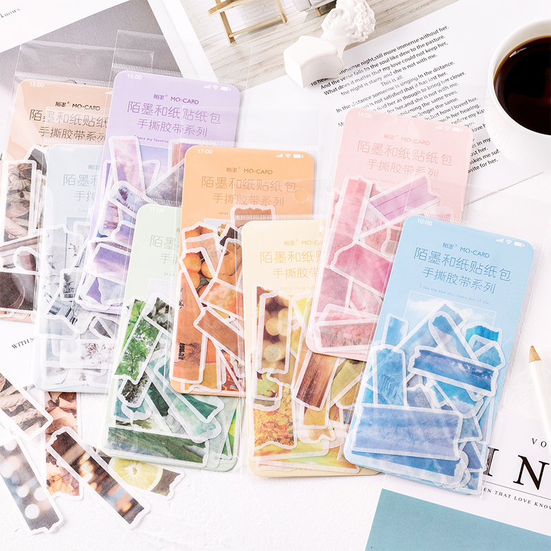 60pcs Cute Stickers Watercolor Stickers Bookmark Decorative Stickers Scrapbooking Bullet Journal Stickers Stationery Office